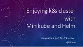 Enjoying k8s cluster with Minikube and Helm