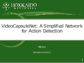 VideoCapsuleNet: A Simplified Network for Action Detection