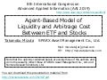 Agent-Based Model of  Liquidity and Arbitrage Cost  Between ETF and Stocks Takanobu Mizuta SPARX Asset Management Co., Ltd.
