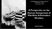 A Perspective on the Human Component of Maritime Information Warfare