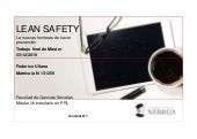 2019 12 03_presentacion_tfm_lean safety_federico uliana_nebrija