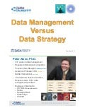 DataEd Slides:  Data Management versus Data Strategy