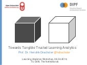 Towards Tangible Trusted Learning Analytics