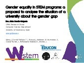 Gender equality in STEM programs: a proposal to analyse the situation of a university about the gender gap