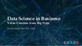 Data Science in Business: Value Creation of Business