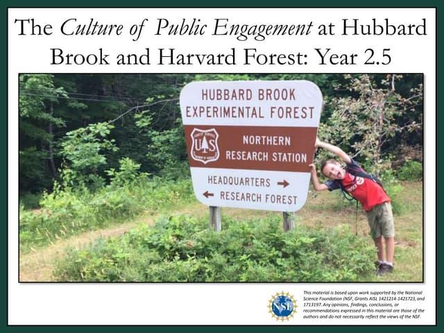 2020 Hubbard Brook Cooperators Meeting