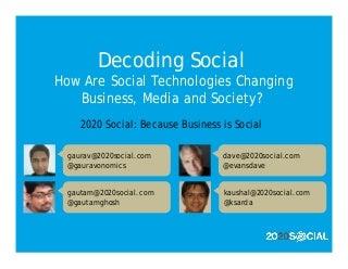 2020 Social Decoding Social Workshop