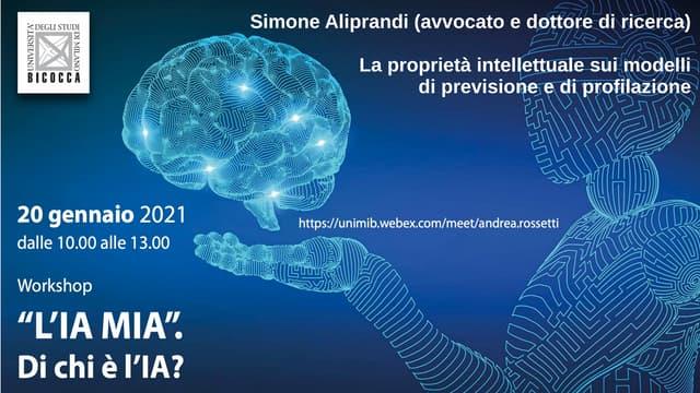 La proprietà intellettuale sui modelli di previsione e di profilazione (Bicocca, gennaio 2021)