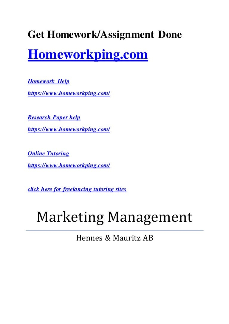 marketing managment assignment