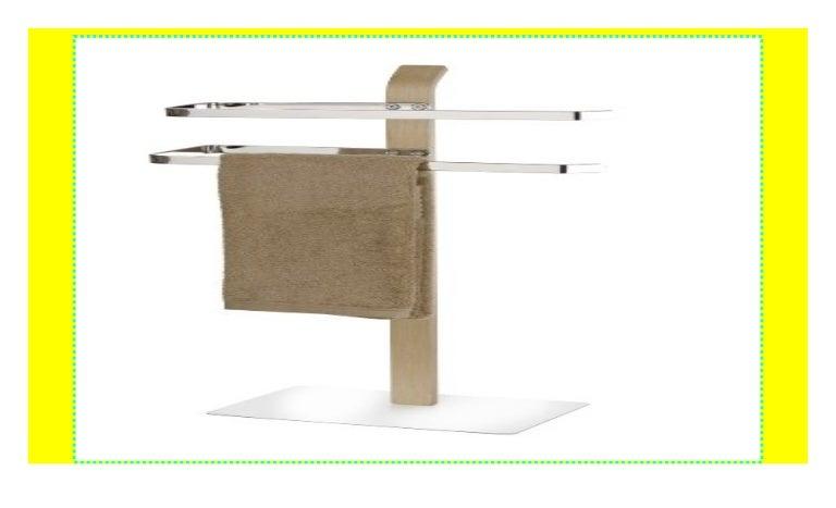 Chrom Kleiderst/änder 40.5 x 79.5 x 21.5 cm WENKO 20396100 Handtuchst/änder Samona Nature mit 2 Armen Stahl
