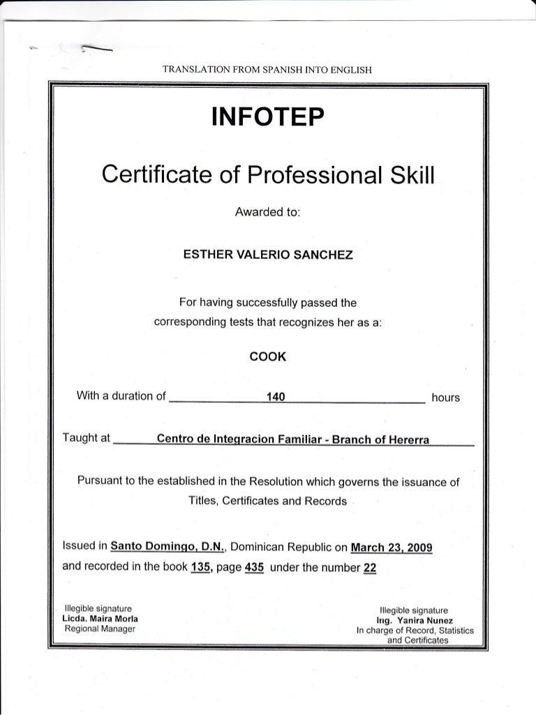 Certificado de cosinera 1betcityfo Images