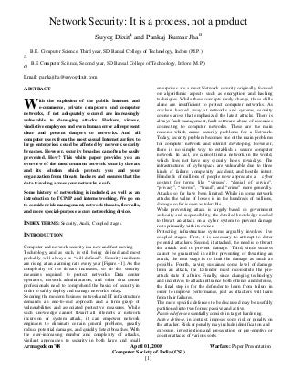 network security research papers