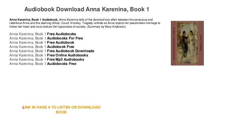 Audiobook free Mp3 itunes Anna Karenina, Book 1