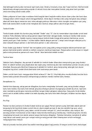 15 Blog Berisi Poker Online