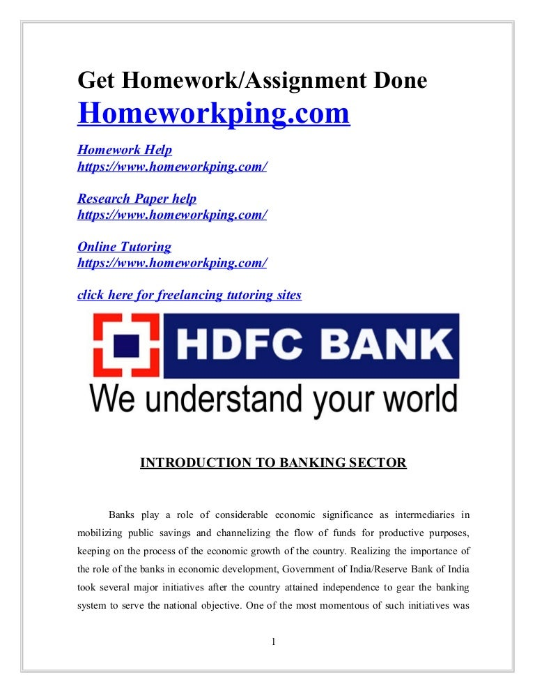 205171537 A Study On Financial Performance Of Hdfc Bank