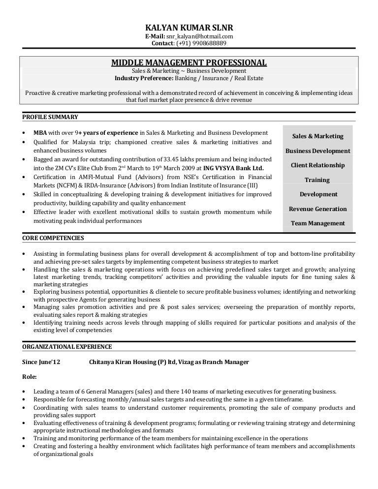 kalyan update resume
