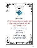 LY TRÍCH VÀ KHẢO SÁT THÀNH PHẦN  HÓA HỌC CỦA TINH DẦU BẠC HÀ  (MENTHA ARVENSIS)
