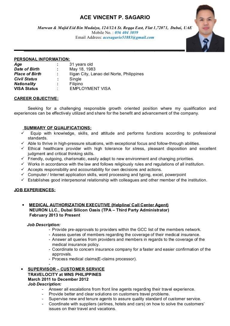Call Center Agent Resume Sample Philippines لم يسبق له مثيل الصور