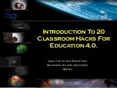 Introduction to 20 Classroom Hacks For Education 4.0