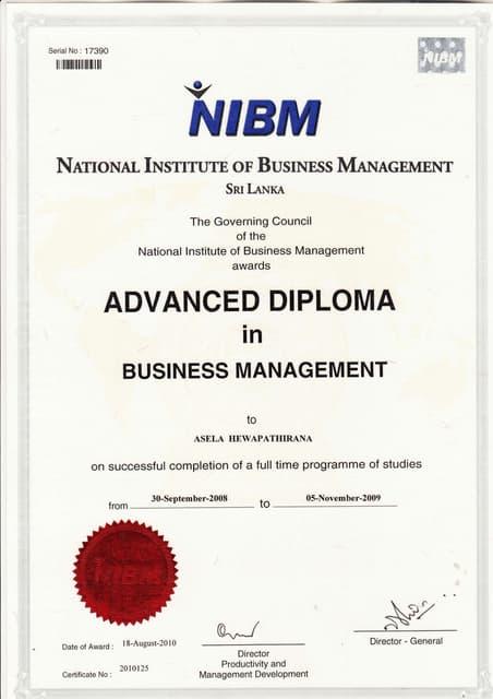Nibm Prospectus M B A