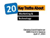 20 Key Truths about Marketing and Technology