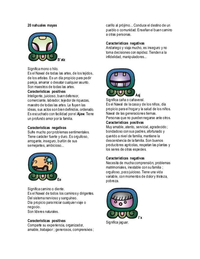 20 Nahuales Mayas