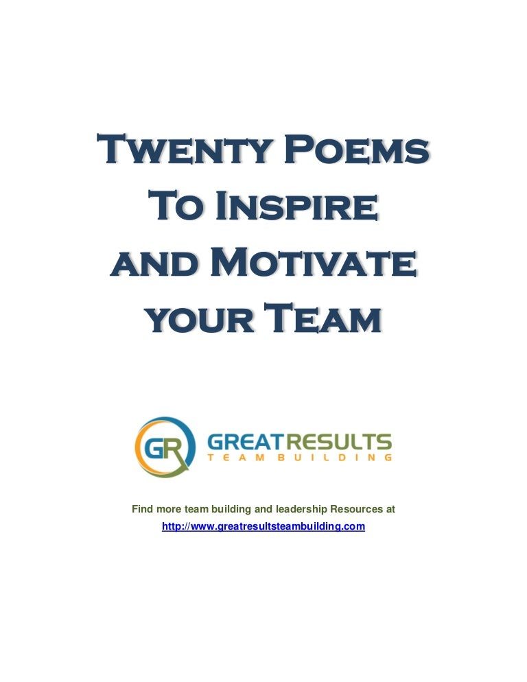 Poems about teamwork in sports