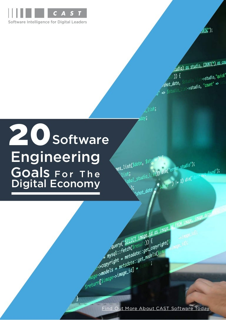 Software Engineering Ebook 20 Software Engineering Goals For The Dig