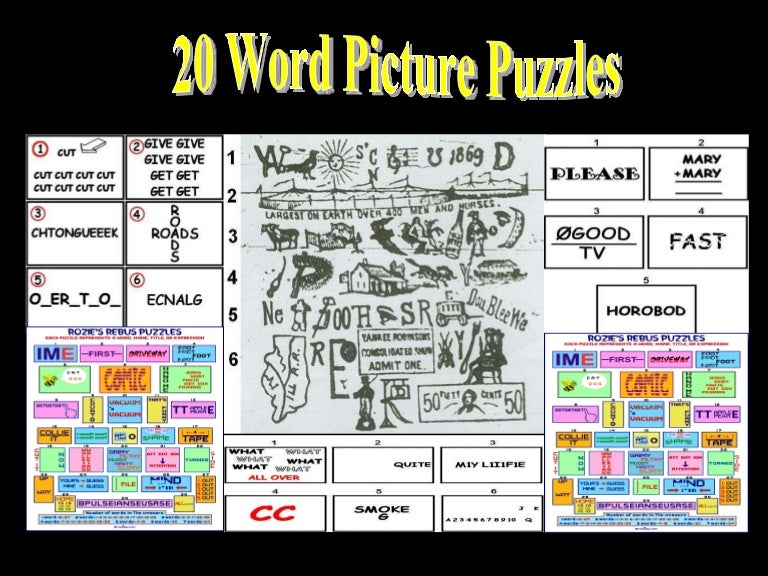 picture relating to Printable Wuzzles With Answers named 20 Term Imagine Puzzles