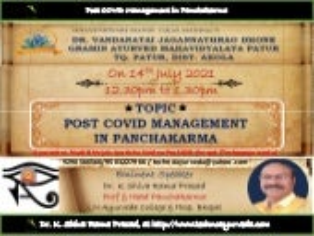 Panchakarma in Covid