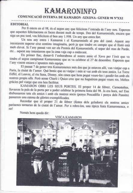 21. kam  núm. 21. gener 1998