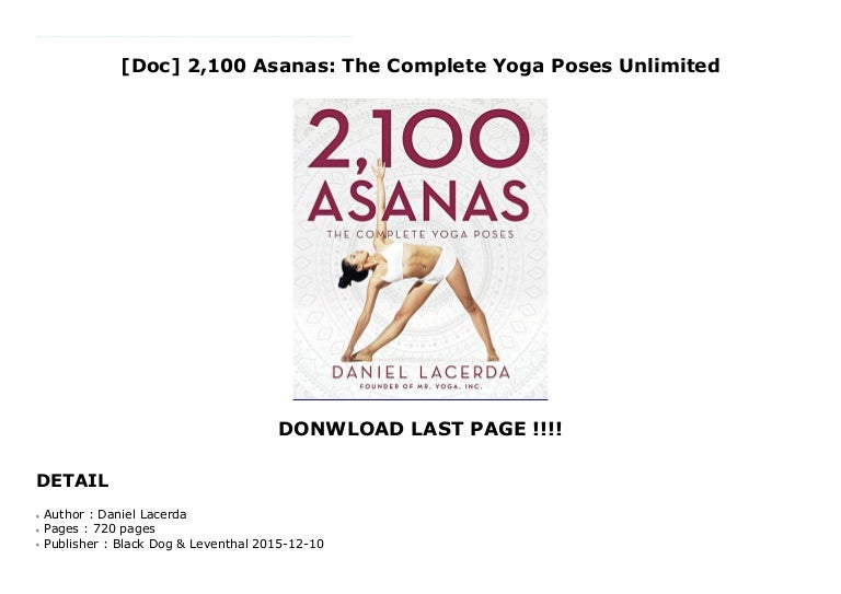 Doc 2 100 Asanas The Complete Yoga Poses Unlimited