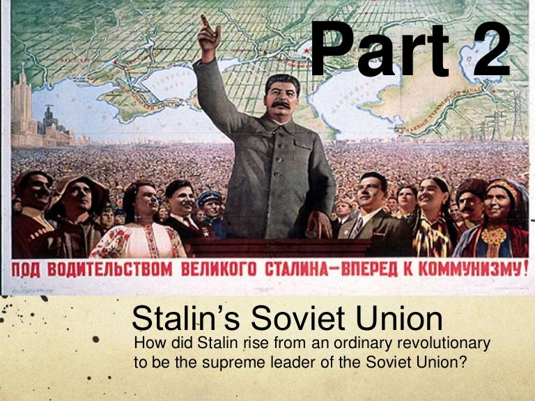 to what extent did stalin establish Throughout the reign of stalin he was able to establish himself as a successful dictator through totalitarian rule however, through stalin's political career he also encountered many failures to what extent was stalins reign successful specifically for you.