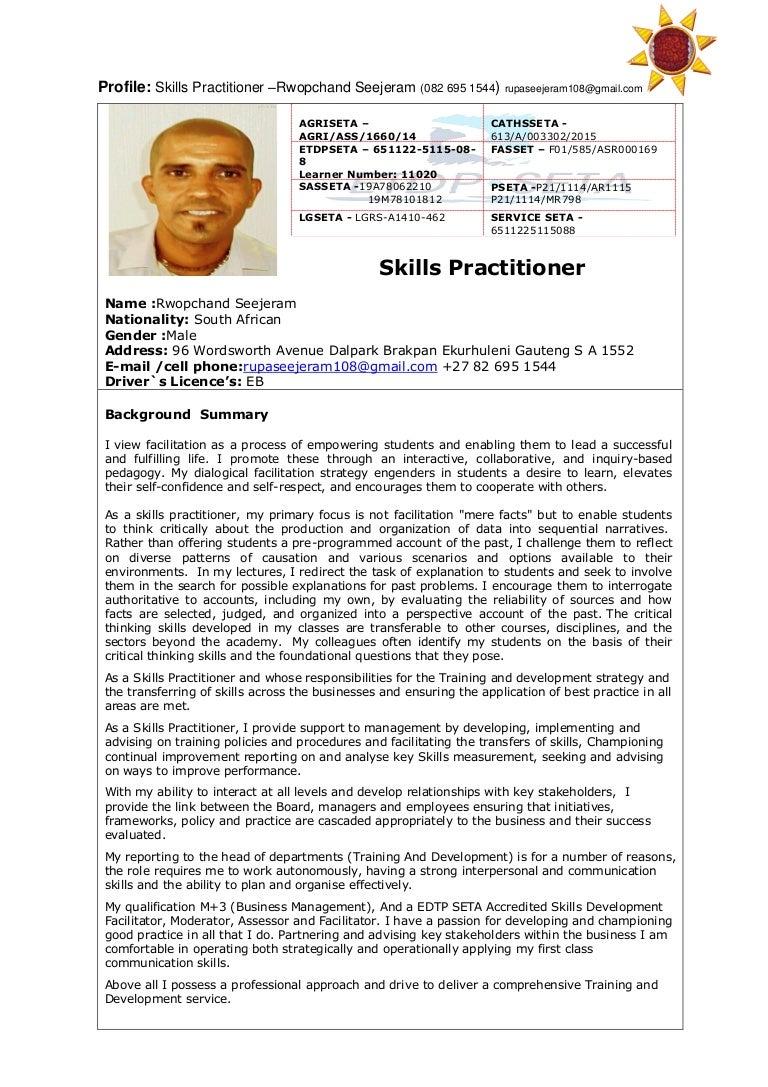 skills practitioner profile rupa seejeram