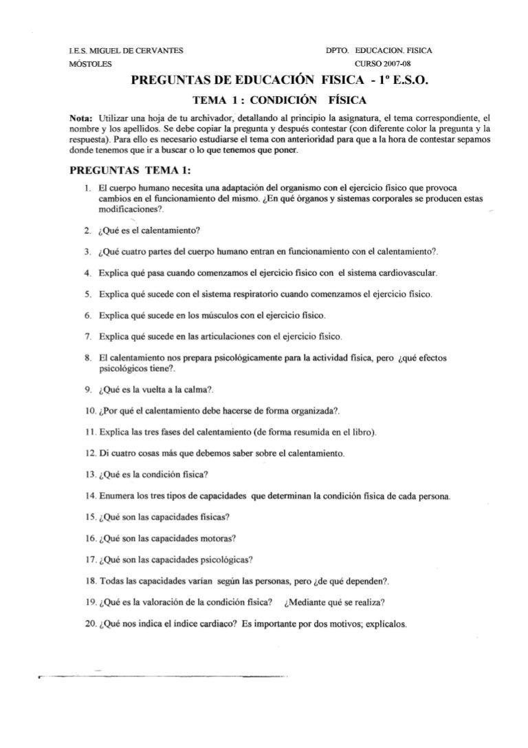 preguntas sobre trabajo fisica