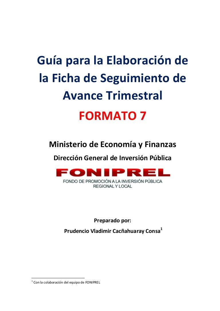 GUIA PARA ELABORAR FORMATO 7 DEL FONIPREL