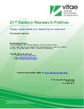 21st Century Research Profiles: Using social media to benefit your research handout