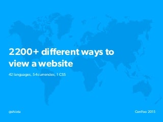 Internationalisation: 2200+ different ways to view a website