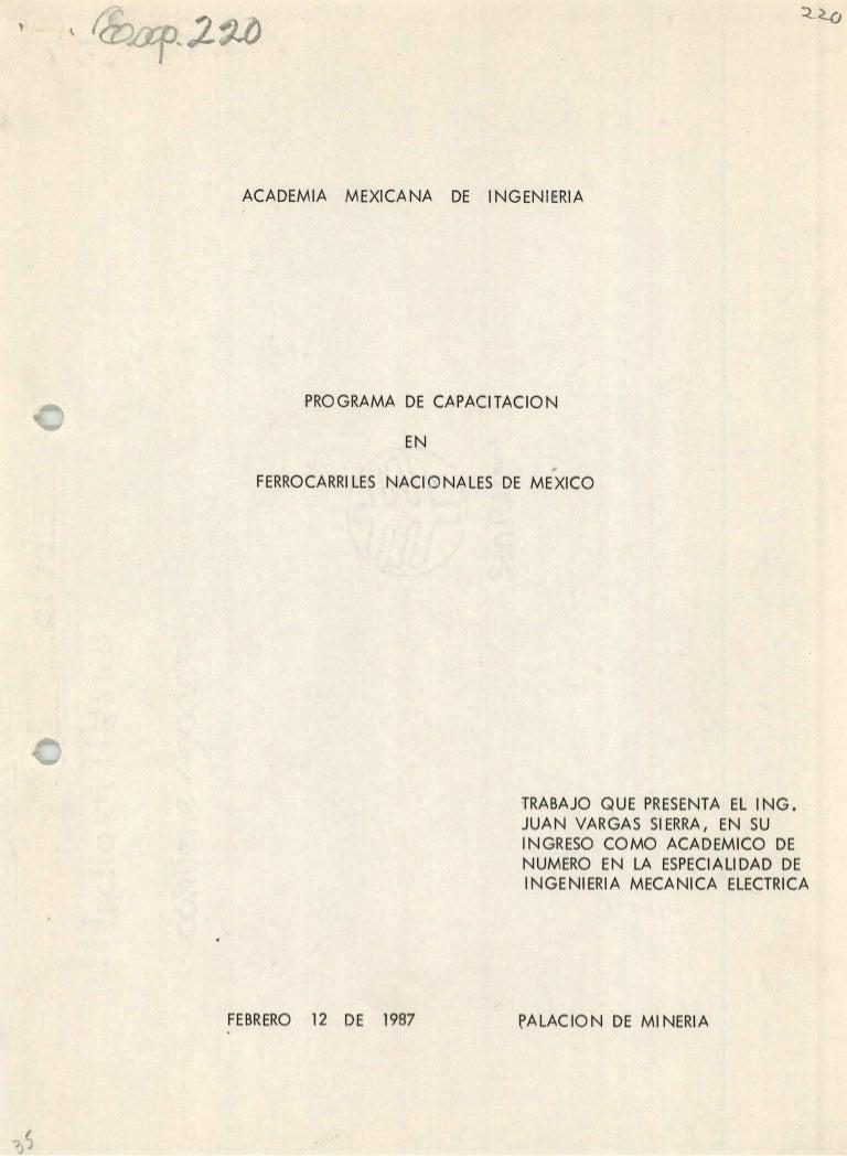 PROGRAMA DE CAPACITACIÓN EN FERROCARRILES NACIONALES DE MÉXICO