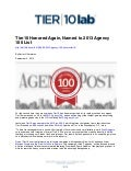 Tier10 Honored Again, Named to 2013 Agency 100