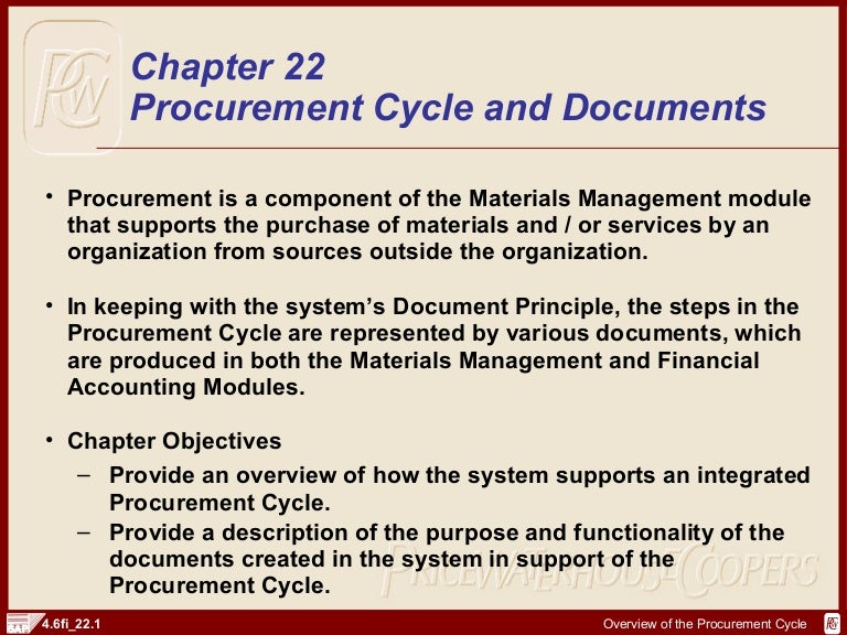 SAP FI Procurement Cycle And Documents | http://sapdocs info