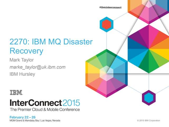 IBM MQ Disaster Recovery