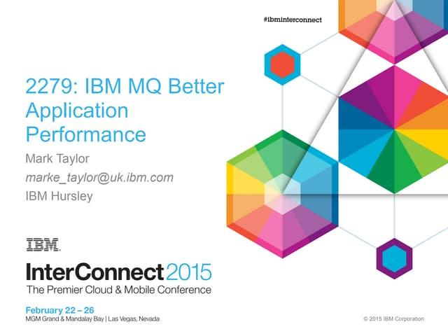 IBM MQ - better application performance
