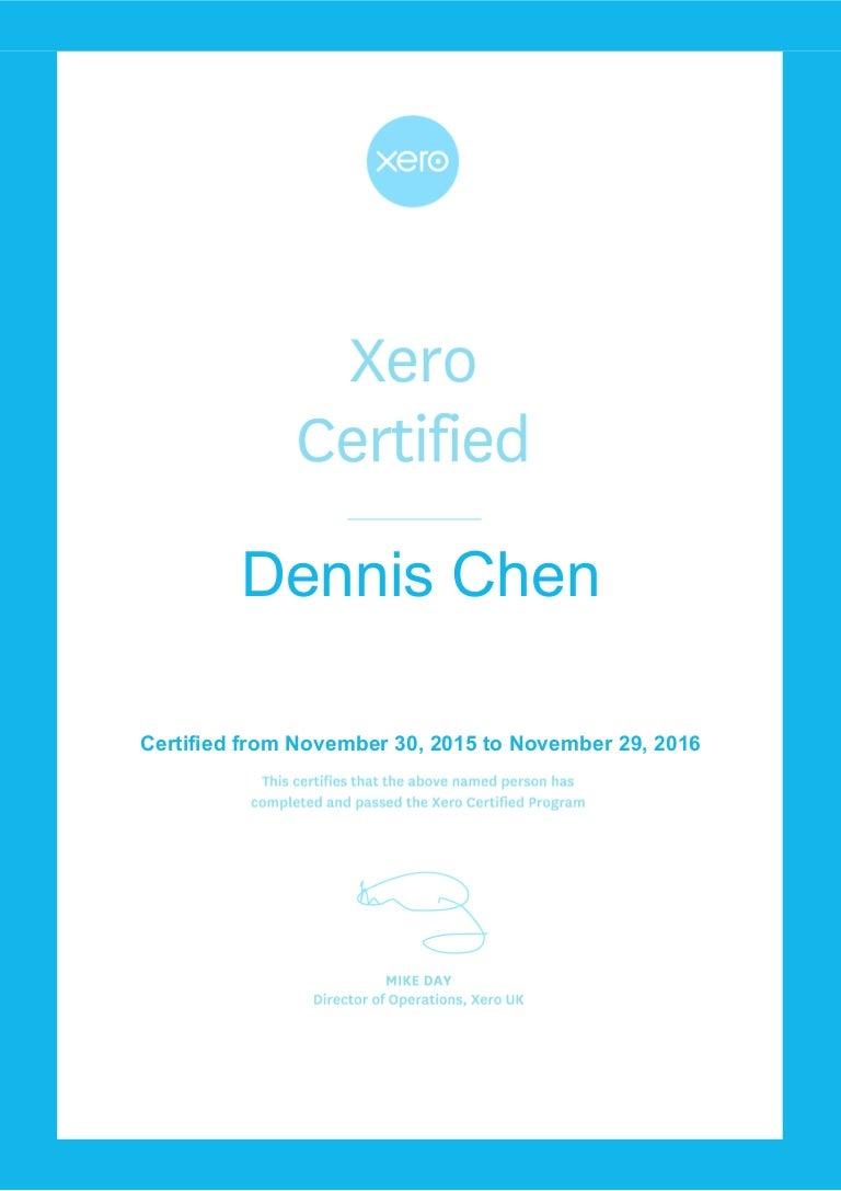 Xero certificate advisor 1betcityfo Gallery