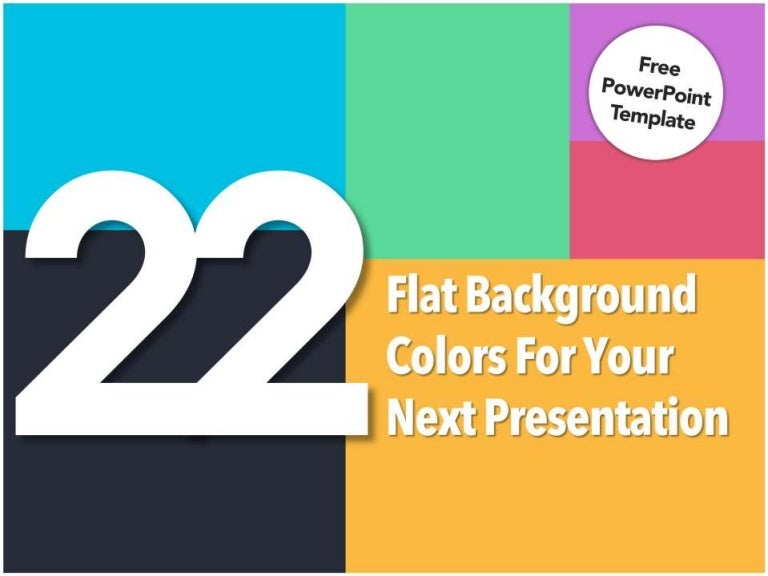 22 flat background colors for your presentation [free powerpoint temp…, Powerpoint templates