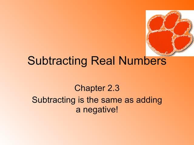 2 3 Subtract Integers
