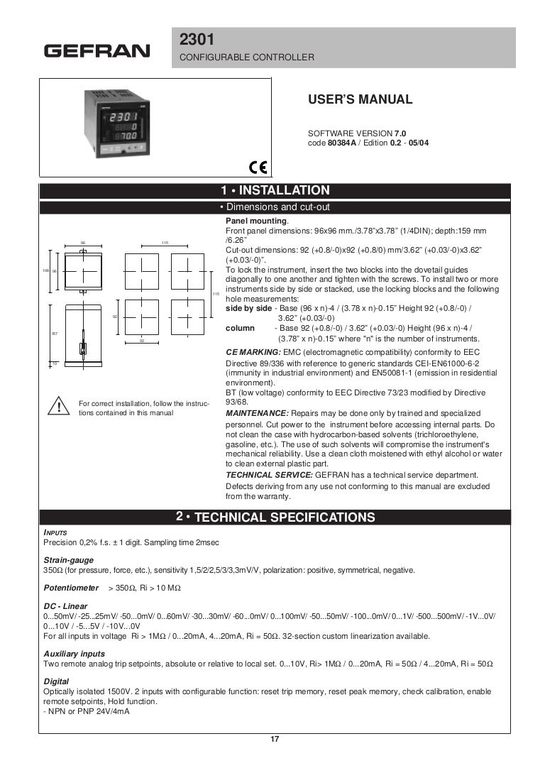 2301 manual (v7.0 - 80384 a) (1) gefran