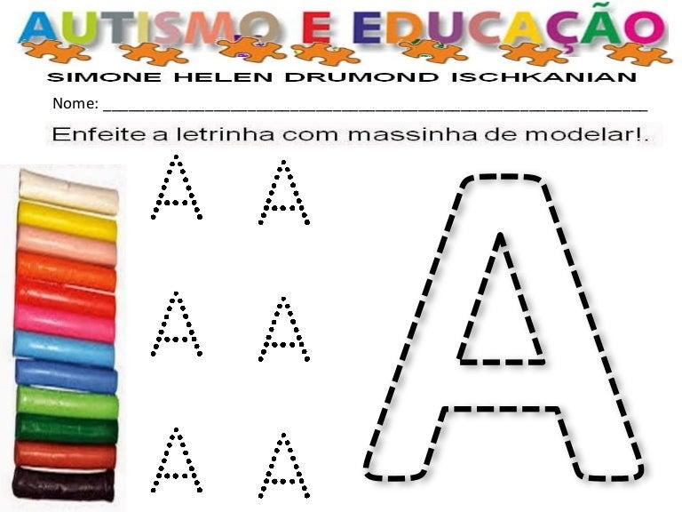 Conhecido 231 autismo alfabeto massinha de modelar YB56