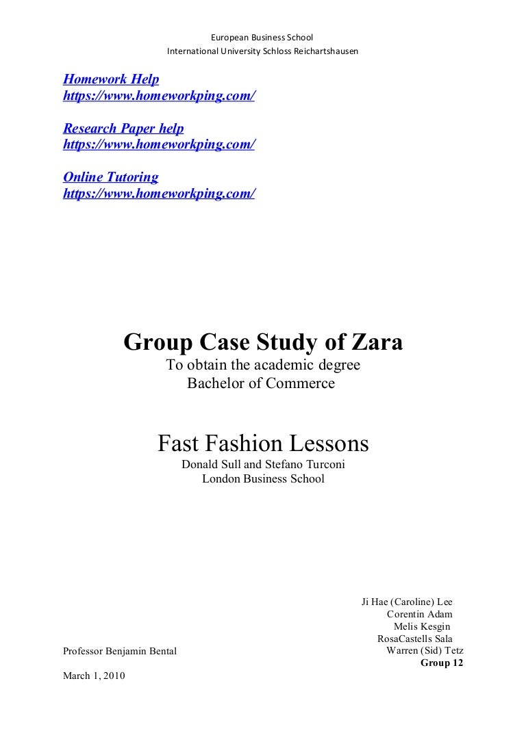 Case Study Zara   Supply Chain   Retail