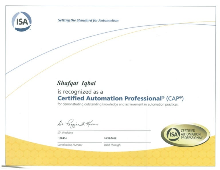 cap certified automation professional isa certification slideshare cb upcoming